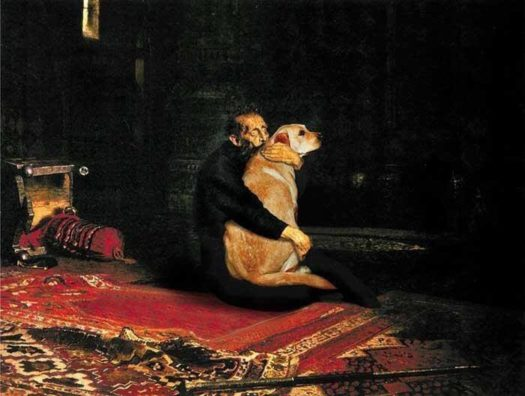 иван грозный греет собаку
