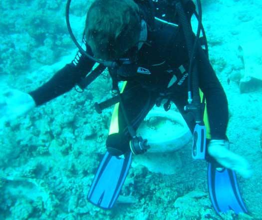 аквалангист на унитазе