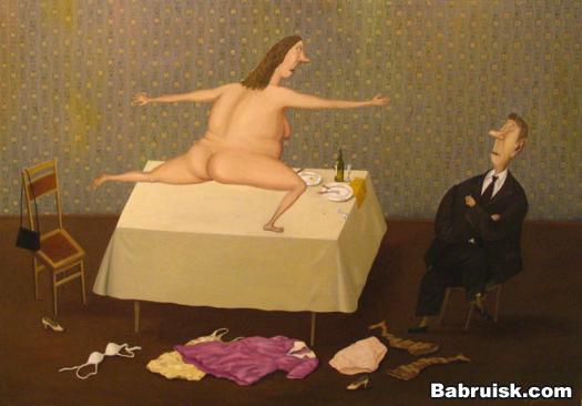 секс на столе. половой акт под столом