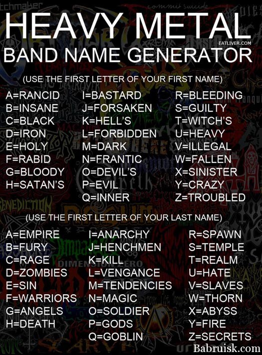 metal band name generator
