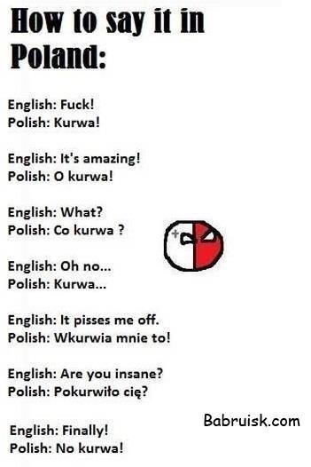курва польский мат