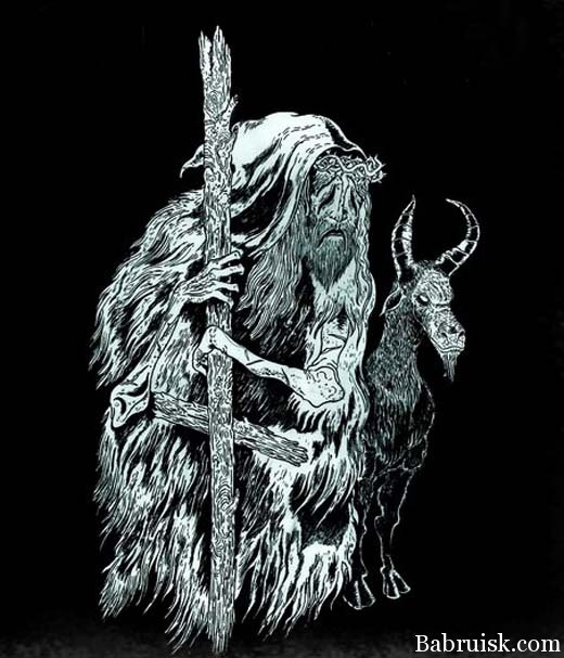 black metal goat