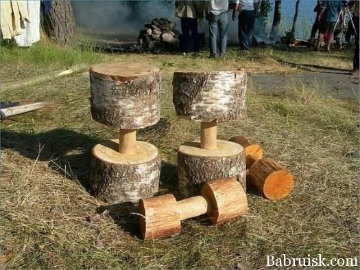 деревянные гантели