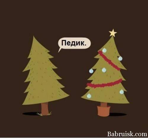 новогодний педик