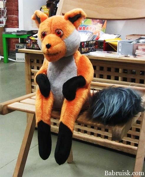 Игрушка чучело лисы