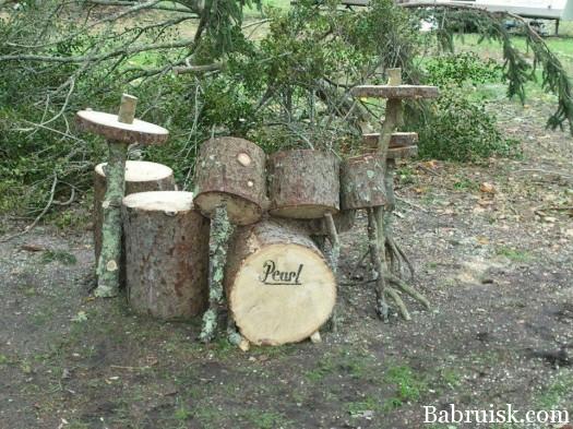 деревянные барабаны