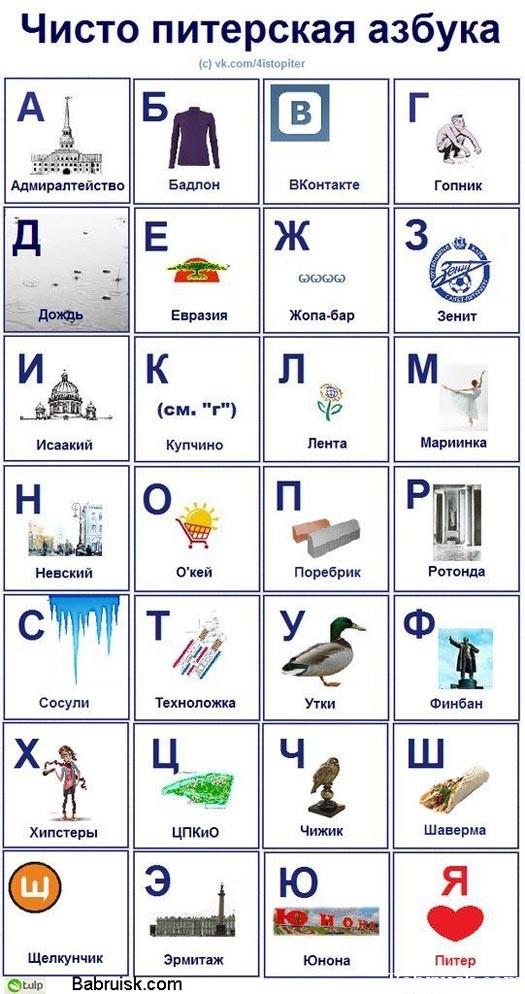 питерская азбука