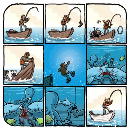 охуенная рыбалка