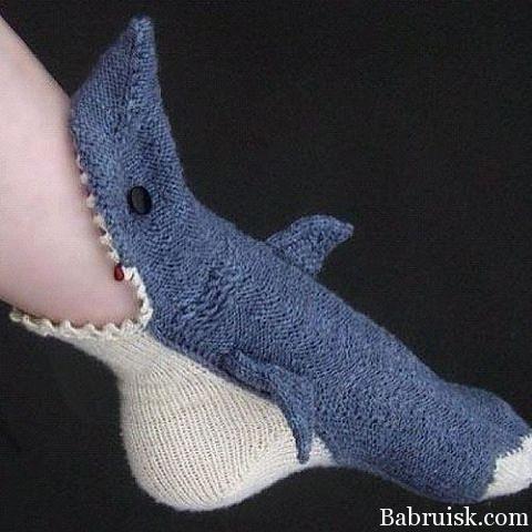 акула носок
