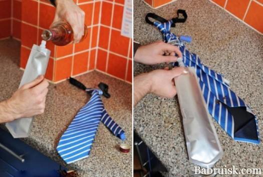 галстук со спиртным