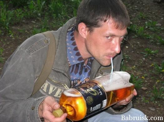 как пить пиво через соломинку