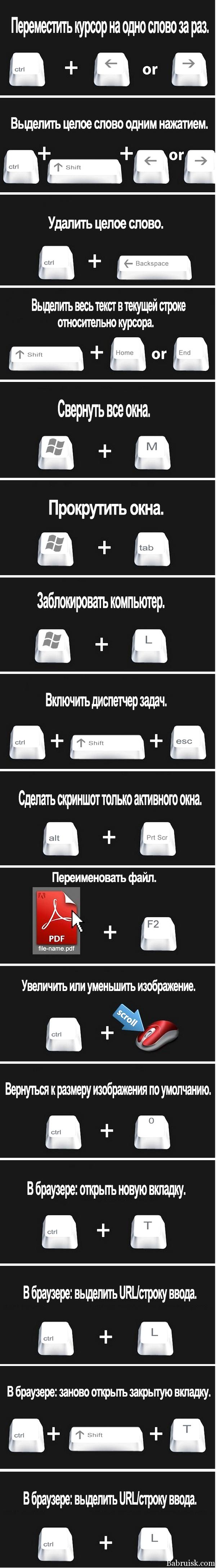 быстрые клавиши