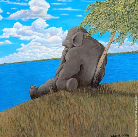 пьяный в жопу слон