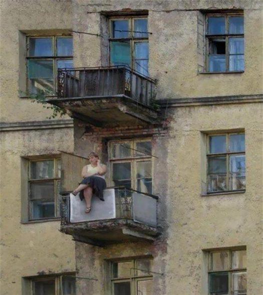 охуенное тело на балконе