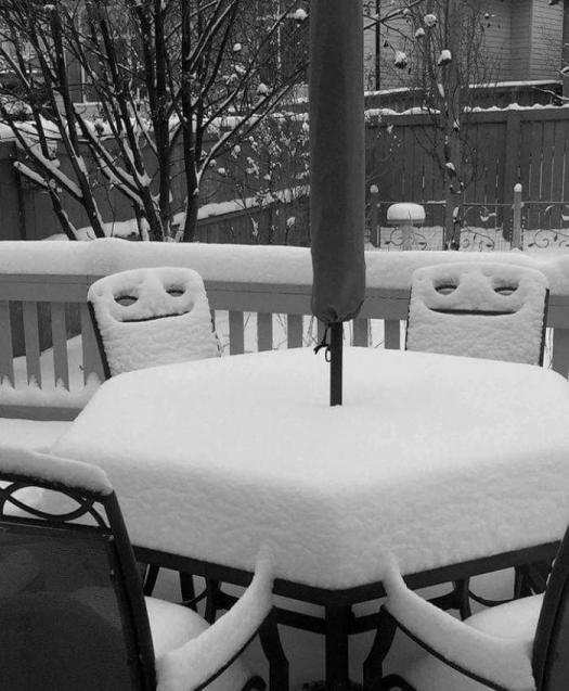 снег выпал