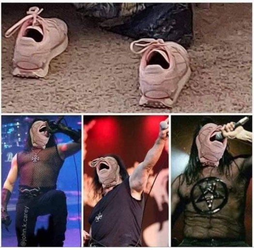 обувь вместо лица