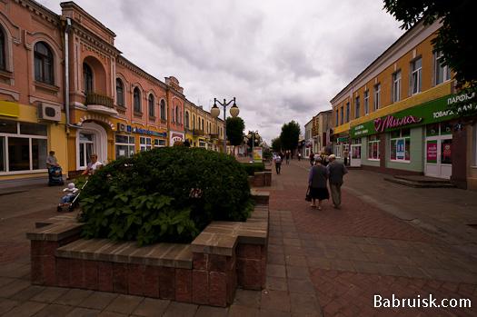 Социалистическая улица, центр Бобруйска